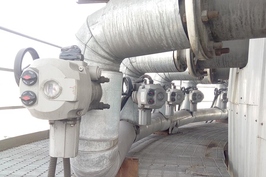 山东某热电厂选用汉腾HB系列电动执行器
