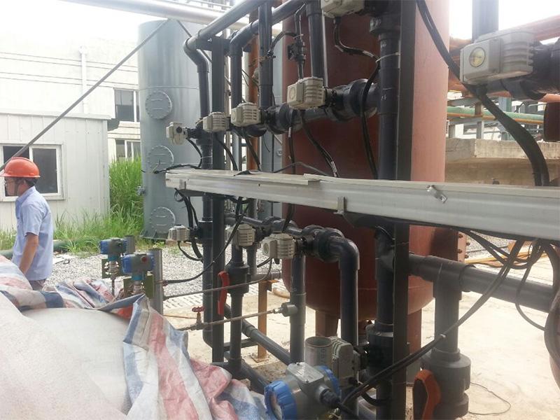 苏州某环境工程公司使用电动CPVC球阀