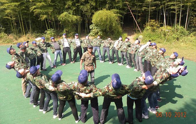 2012年10月常州汉腾超越巅峰拓展训练